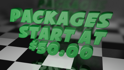 Packages start at $50.00